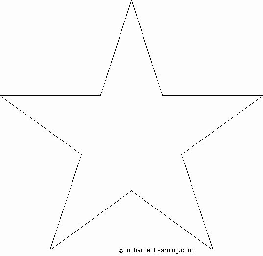 Large Star Template Printable Fresh Star Template