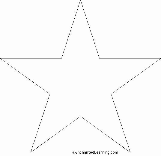 Large Star Template Printable Fresh Star Template