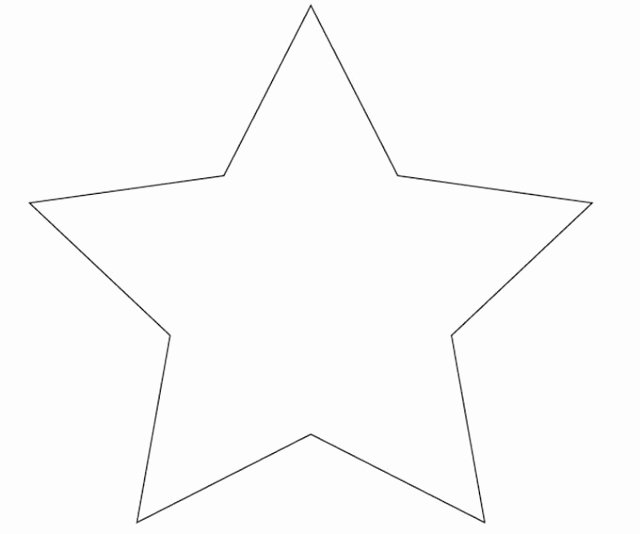 Large Star Template Printable Lovely 9 Best Of Big Star Template Printable Stars