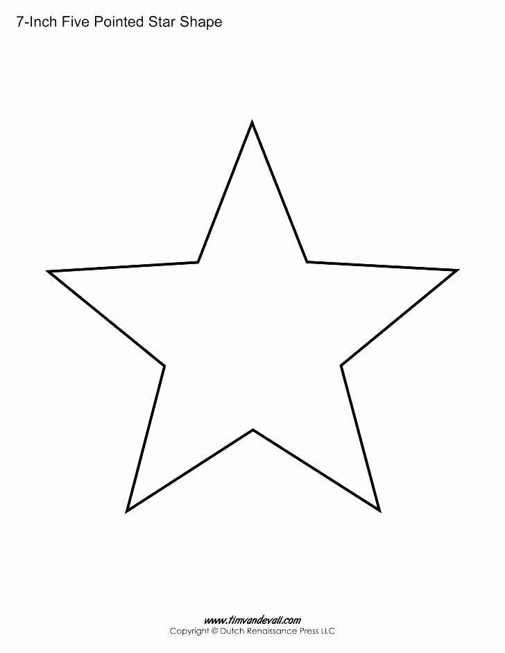Large Star Template Printable Luxury Star Printable Templates Children Coloring 5 Point Stars