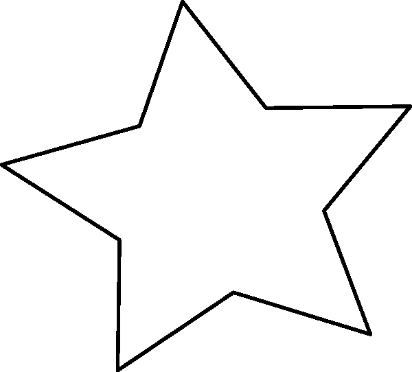 Large Star Template Printable Luxury Stencil Star Clipart Best