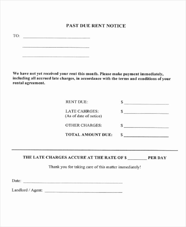 Late Notice for Rent Inspirational 37 Notice forms In Pdf