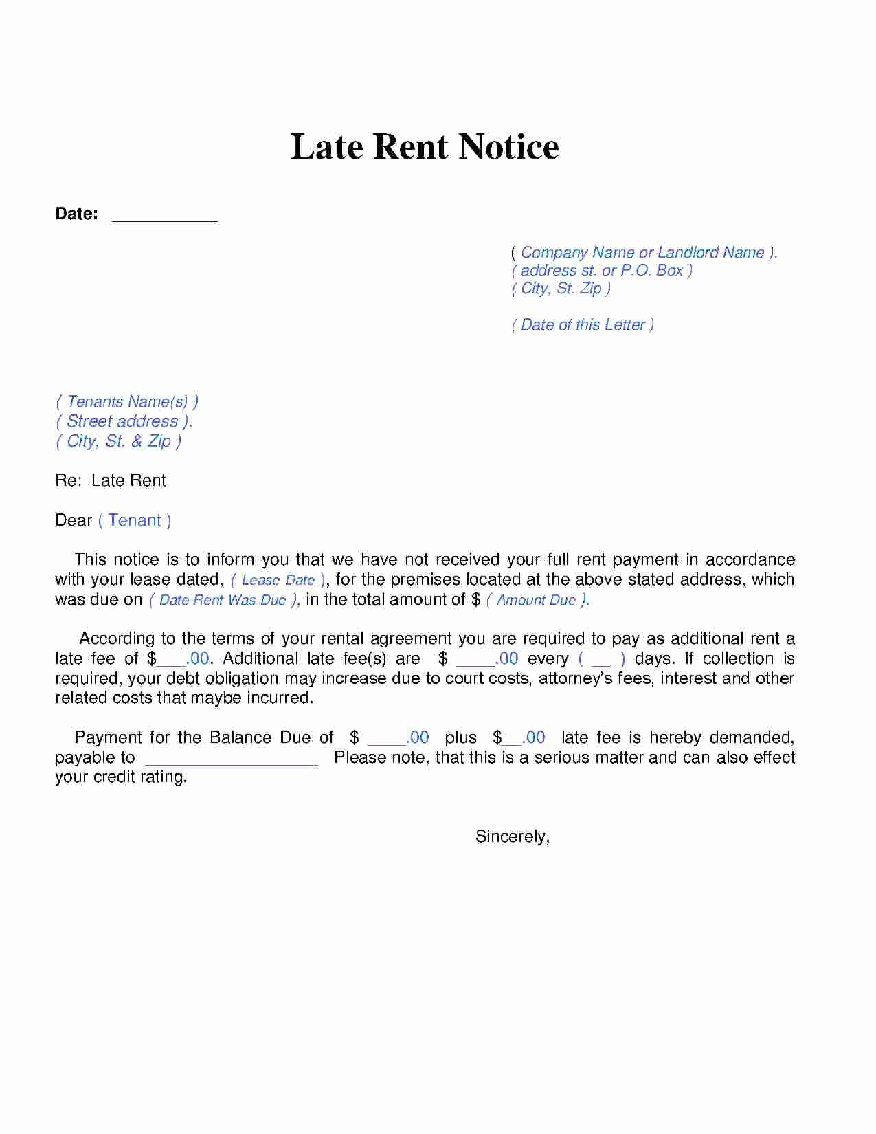 Late Payment Notice Template Awesome Download Late Rent Notice Style 14 Template for Free at