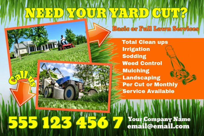 Lawn Service Flyer Template Beautiful Lawn Care Poster Template