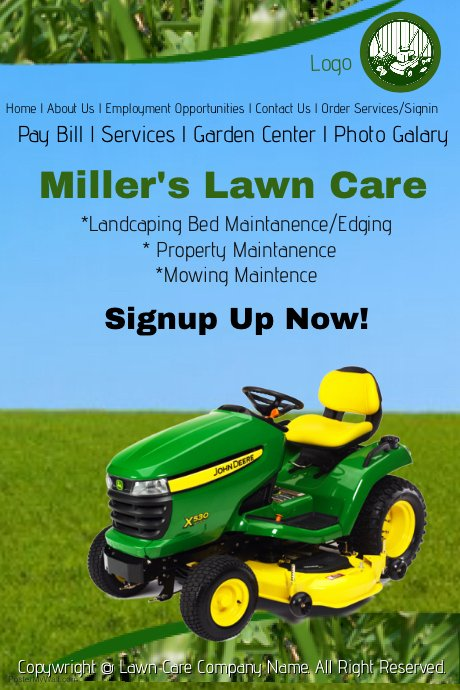 Lawn Service Flyer Template Beautiful Lawn Care Service Template