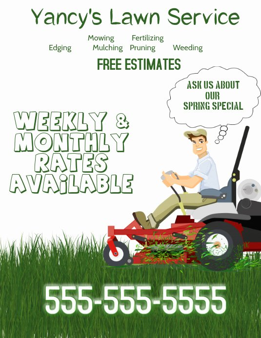 Lawn Service Flyer Template Beautiful Lawn Service Flyer Template