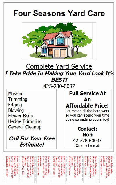 Lawn Service Flyer Template Best Of Couvers Access Ideas for Landscaping Flyers