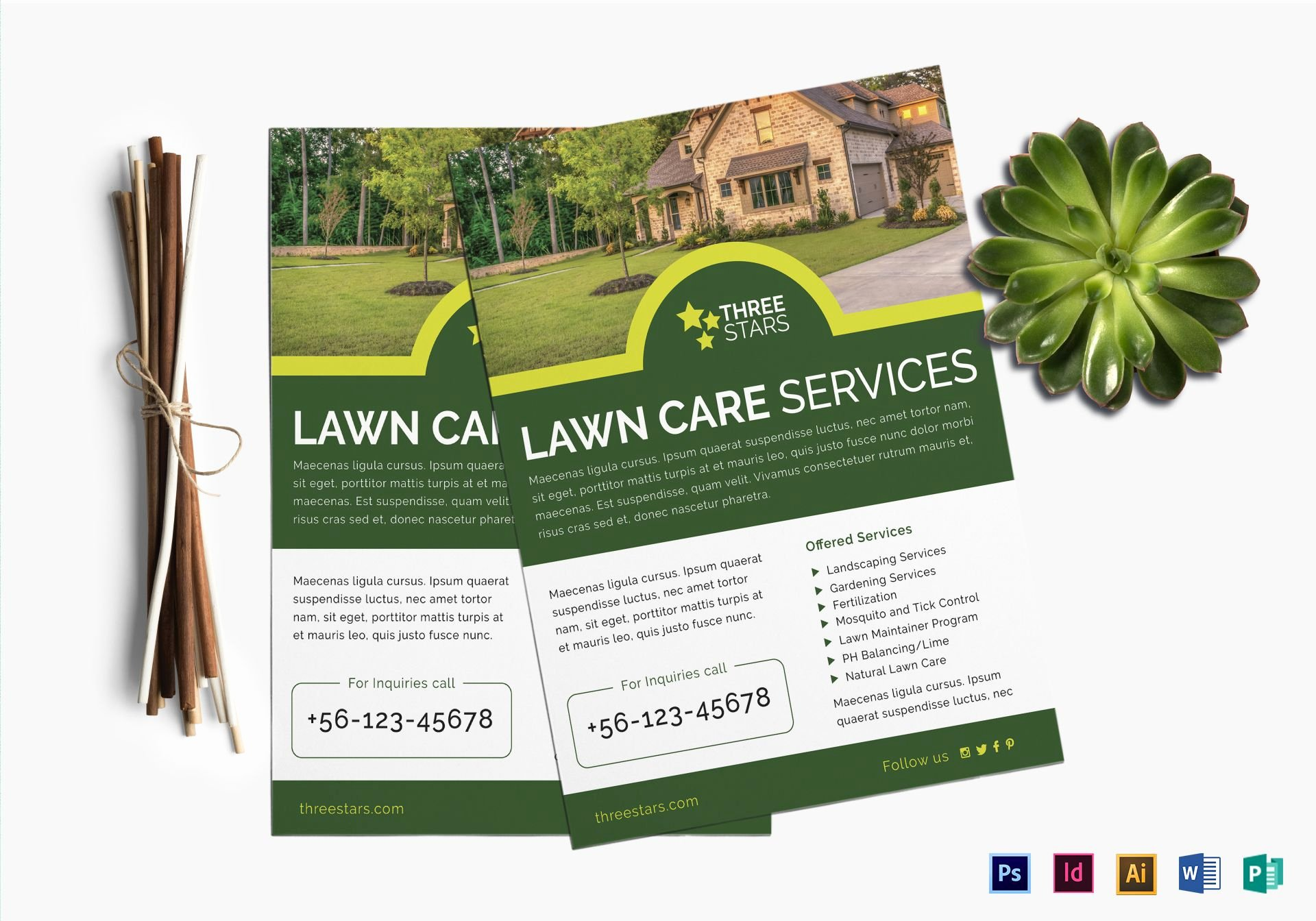 Lawn Service Flyer Template Elegant Lawn Care Flyer Design Template In Psd Word Publisher