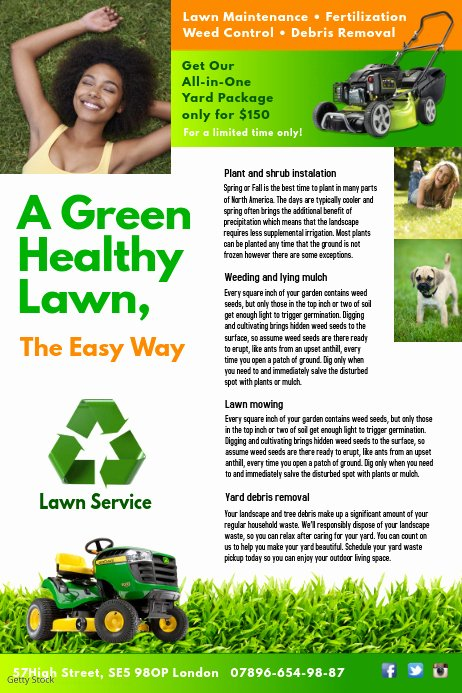Lawn Service Flyer Template Elegant Lawn Service Flyer Template