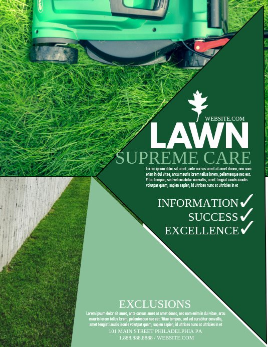 Lawn Service Flyer Template Elegant Lawn Service Template