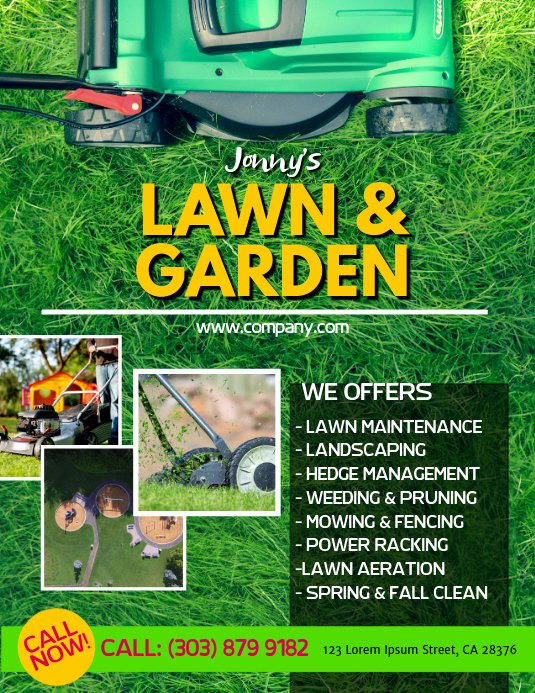 Lawn Service Flyer Template Inspirational Lawn Service Flyer Template