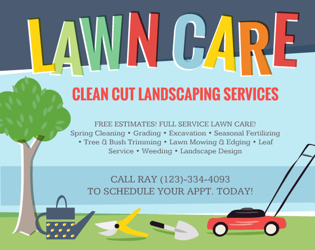 Lawn Service Flyer Template Lovely Lawn Care Flyers – Should You Use them the Lawn solutions