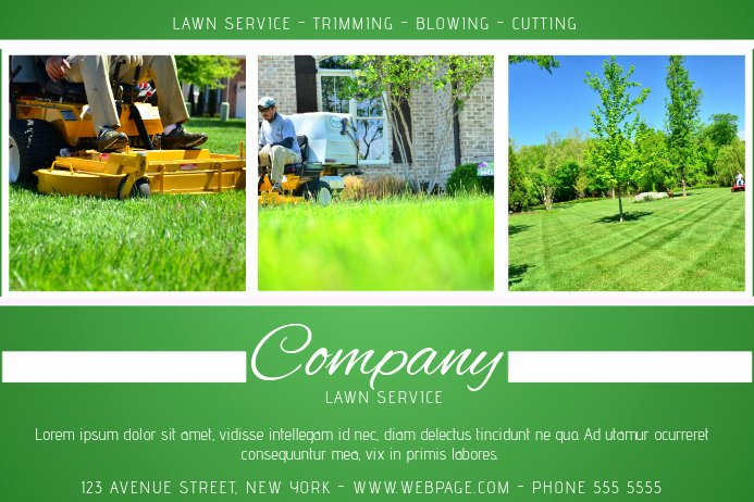 Lawn Service Flyer Template Lovely Lawn Service Green Landscape Flyer Template