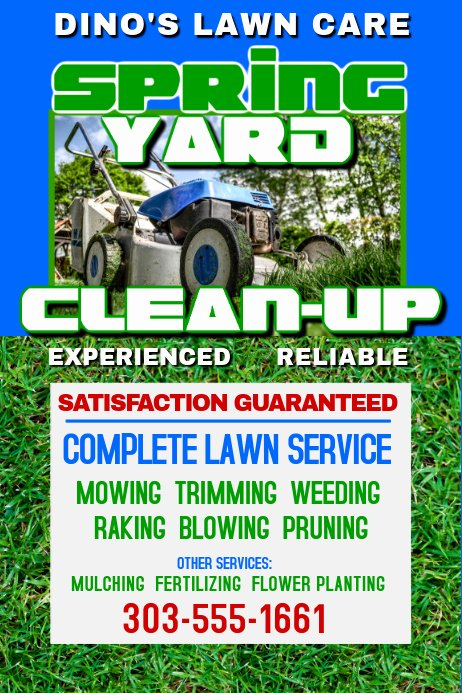 Lawn Service Flyer Template Luxury Lawn Services Template