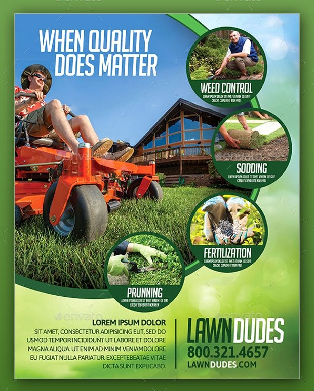 Lawn Service Flyer Template New 18 Landscaping Flyer Designs Psd Ai Vector Eps