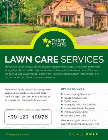Lawn Service Flyer Template New Lawn Care Flyer Templates