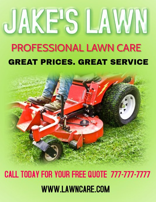 Lawn Service Flyer Template New Lawn Care Landscaping Grass Cutting Small Business Flyers