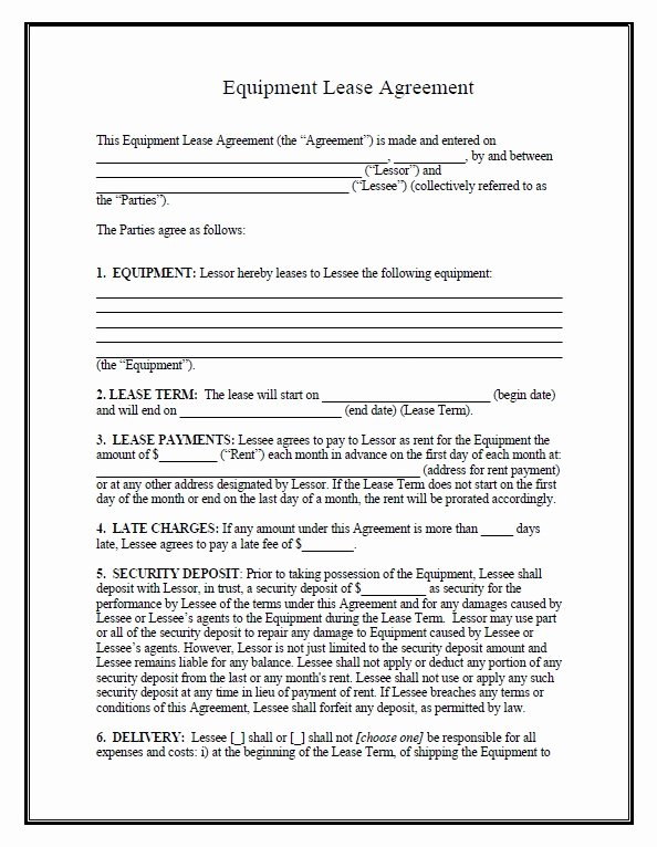 Lease Purchase Agreement Unique Download Fillable Pdf forms for Free