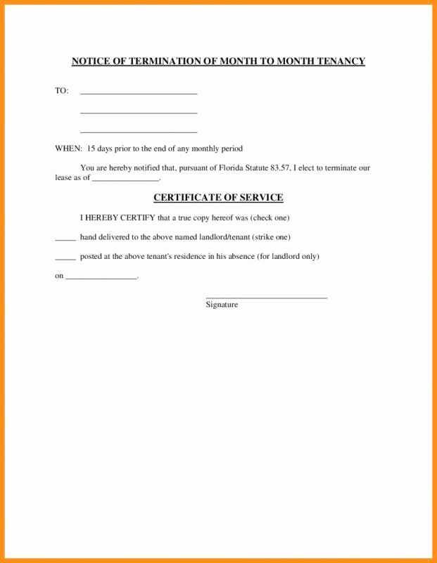 Lease Termination Notice to Tenant Luxury Lease Termination Letter Landlord to Tenant