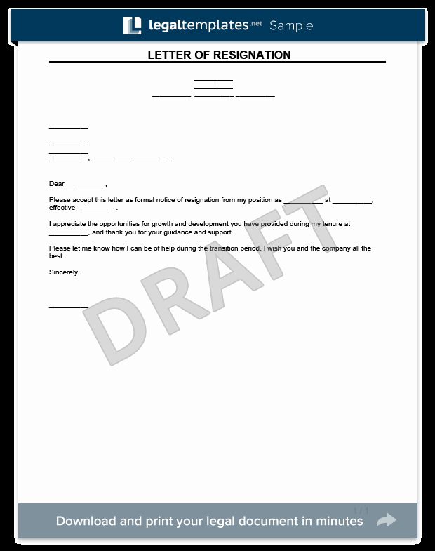 Legal Letter format Template Inspirational Resignation Letter Template