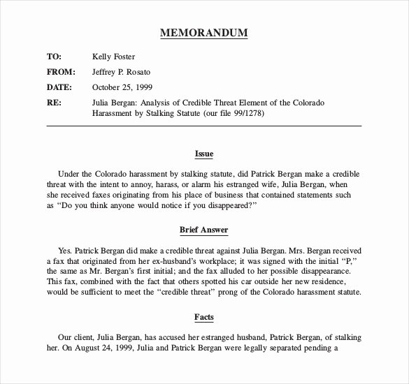 Legal Memorandum Sample Inspirational Memorandum Understanding Template Word