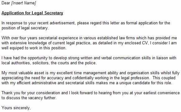 Legal Secretary Cover Letter Samples Luxury Covering Letters Page 15 Of 37 Learnist
