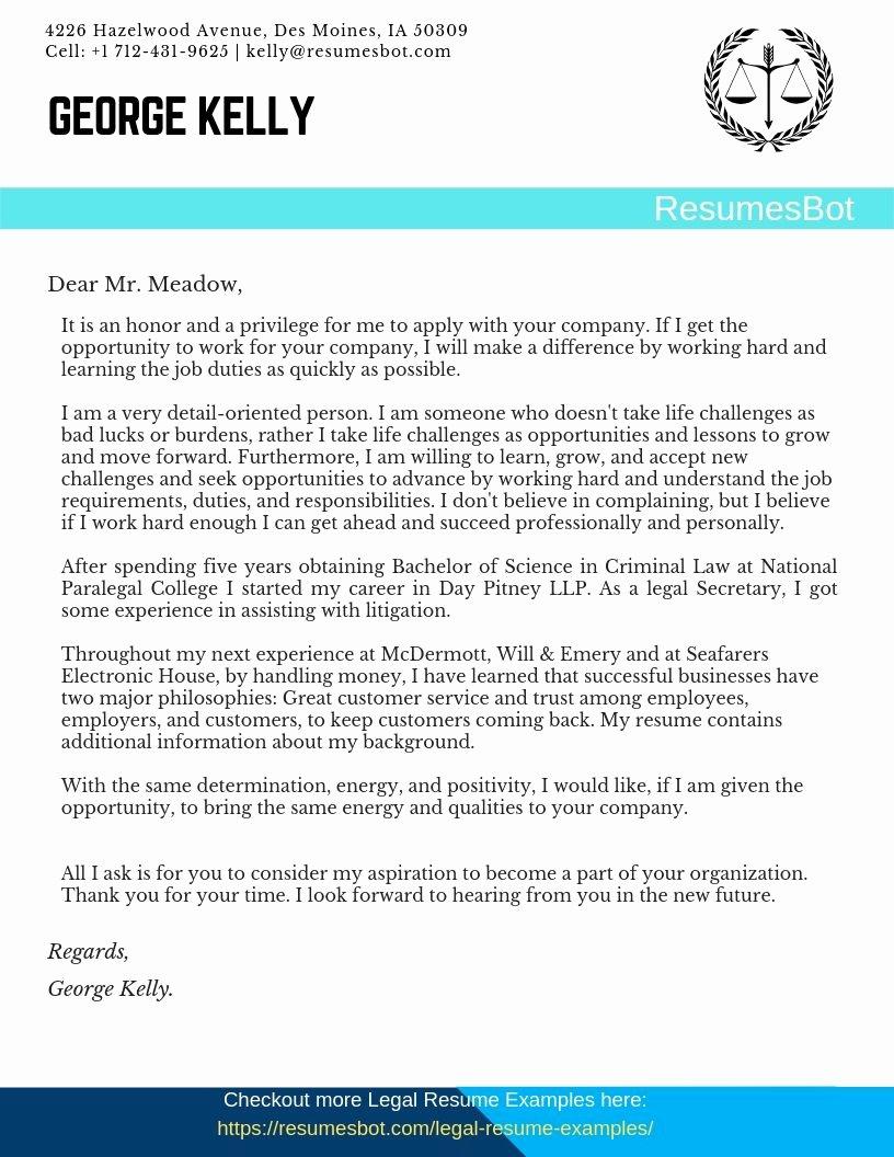 Legal Secretary Cover Letter Samples New Legal Secretary Cover Letter Samples & Templates [pdf Word