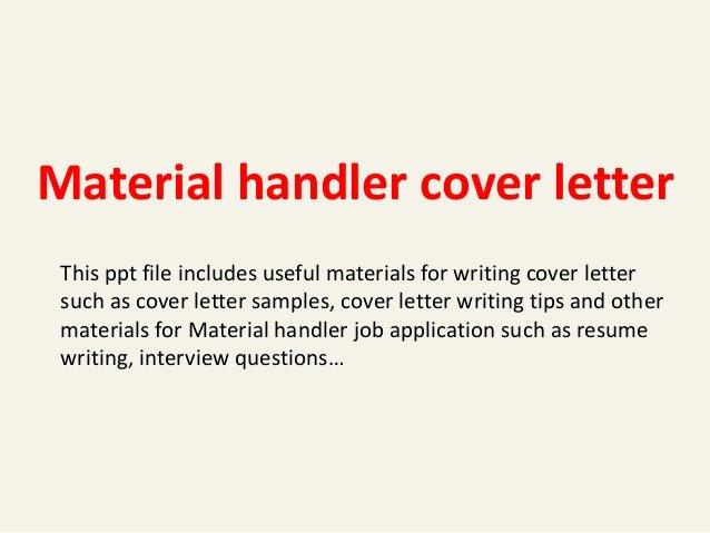Legal Secretary Cover Letter Samples New Material Handler Cover Letter
