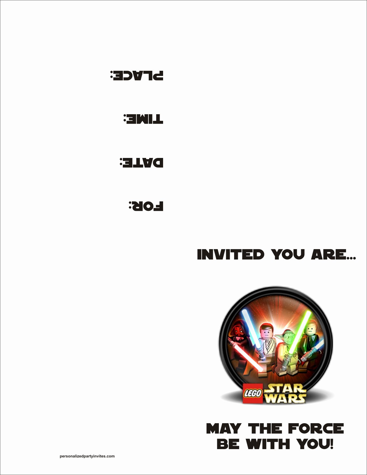 Lego Star Wars Birthday Invitations Awesome Lego Star Wars Free Printable Birthday Party Invitation