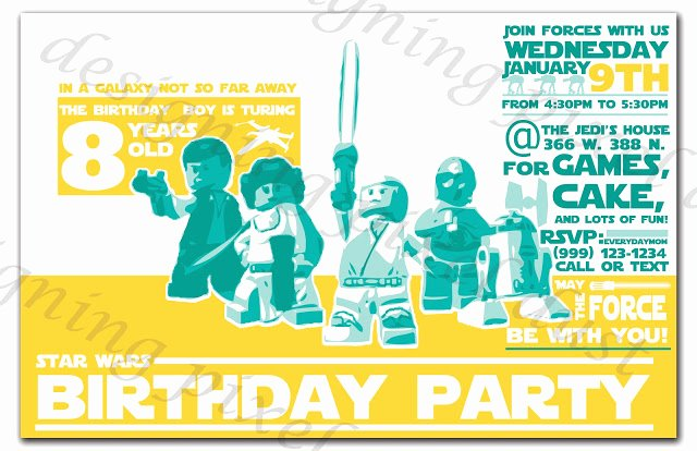 Lego Star Wars Birthday Invitations Awesome Star Wars Lego Birthday Party Everyday Mom Ideas