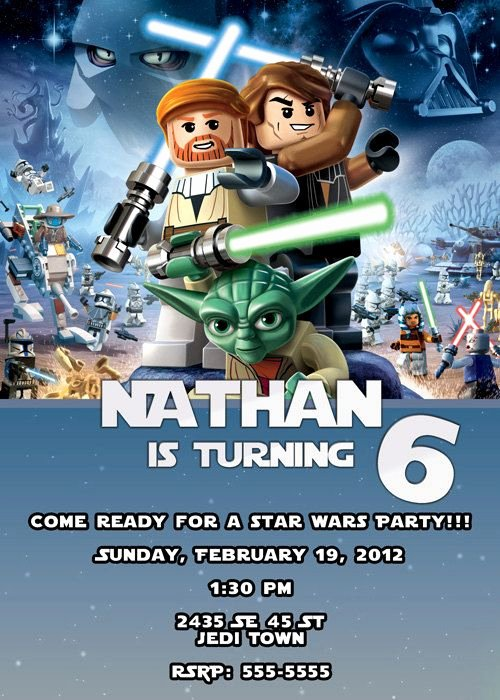 Lego Star Wars Birthday Invitations Beautiful Lego Star Wars Invitation $7 00 Via Etsy