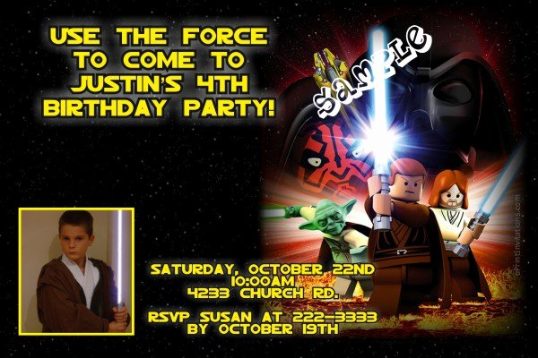 Lego Star Wars Birthday Invitations Best Of Lego Star Wars Birthday Invitations