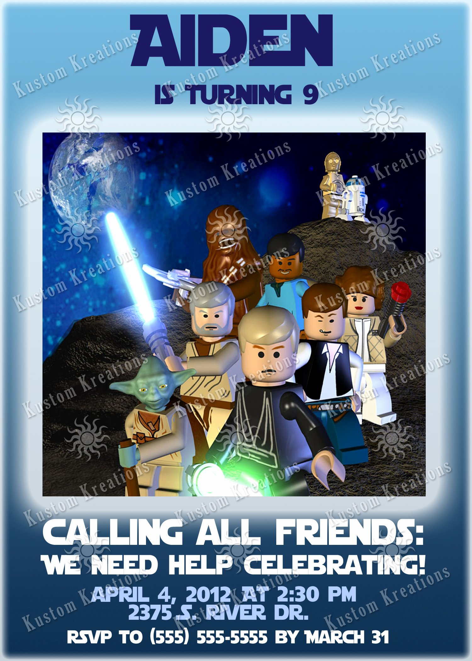Lego Star Wars Birthday Invitations Inspirational Star Wars Birthday Invitations the force Awakens