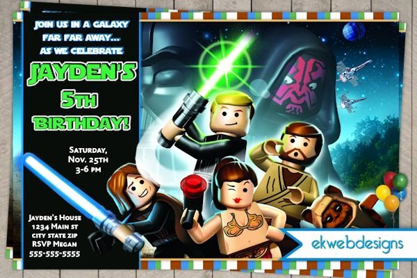 Lego Star Wars Birthday Invitations Unique 17 Best Images About Star Wars the force Awaken Movie