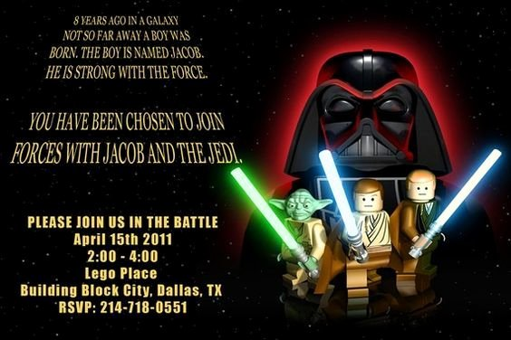 Lego Star Wars Birthday Invitations Unique Free Printable Lego Star Wars Party Invitations