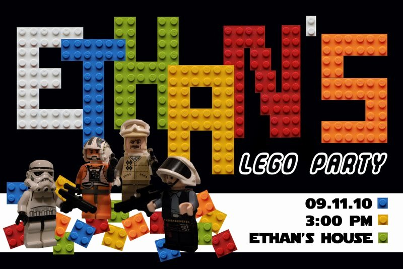 Lego Star Wars Birthday Invitations Unique Star Wars Lego Birthday Invitations