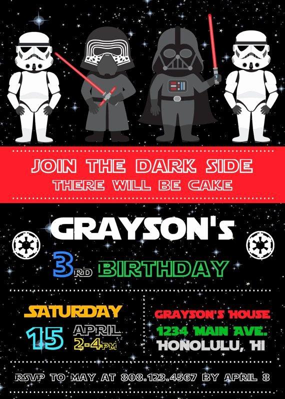 Lego Star Wars Invitations Awesome Free Star Wars Birthday Invitations – Free Printable