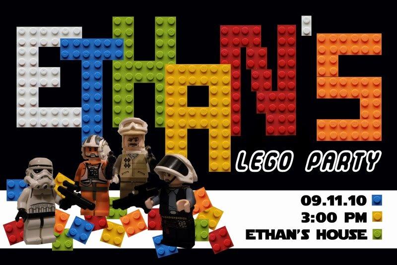 Lego Star Wars Invitations Awesome Star Wars Lego Birthday Invitations