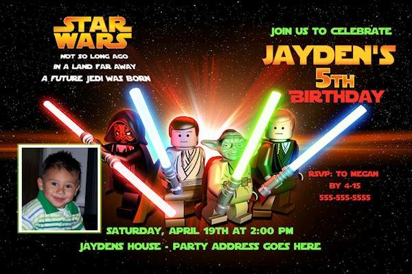Lego Star Wars Invitations Best Of Lego Birthday Party Invitation Ideas – Bagvania Free