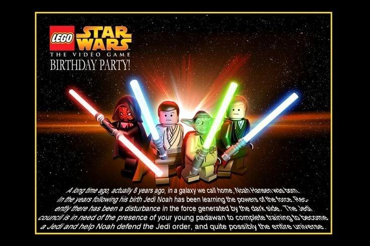 Lego Star Wars Invitations Fresh Star Wars Lego Invitation