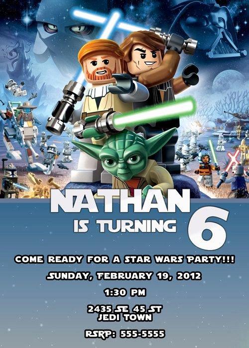 Lego Star Wars Invitations Lovely Lego Star Wars Invitation $7 00 Via Etsy