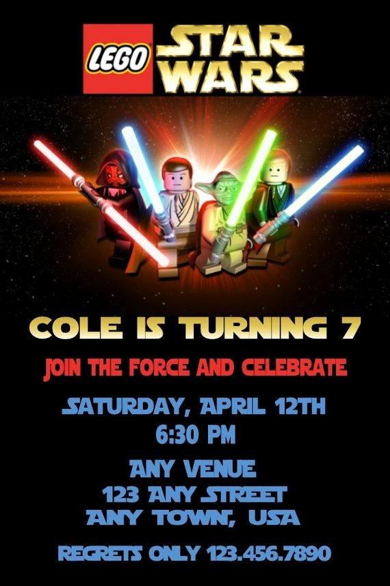 Lego Star Wars Invitations Lovely Star Wars Lego Invitation