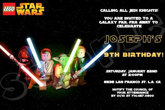 Lego Star Wars Party Invites Beautiful Unavailable Listing On Etsy