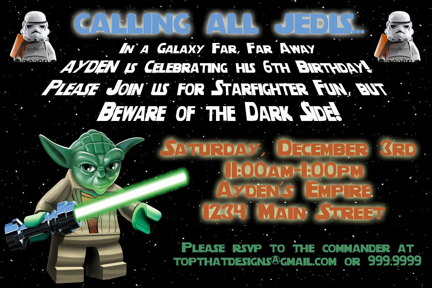 Lego Star Wars Party Invites Best Of Free Printable Star Wars Birthday Party Invitations