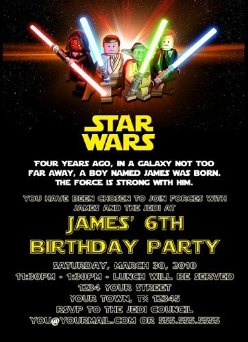 Lego Star Wars Party Invites Fresh Free Printable Star Wars Birthday Invitations Template