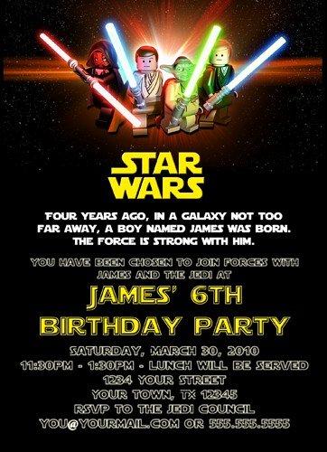 Lego Star Wars Party Invites Fresh Free Printable Star Wars Birthday Invitations Template