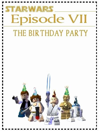 Lego Star Wars Party Invites Lovely Star Wars Lego Invites Party Ideas