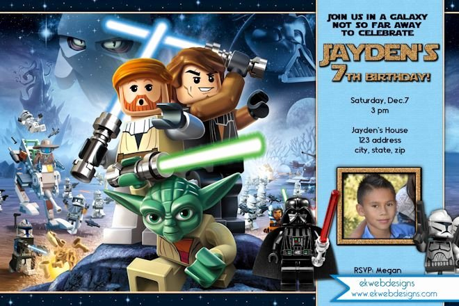 Lego Star Wars Party Invites Unique 17 Best Images About Star Wars the force Awaken Movie