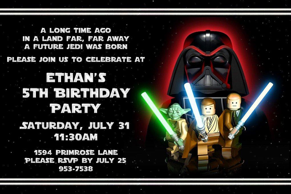 Lego Star Wars Party Invites Unique Free Printable Star Wars Lego Birthday Invitations