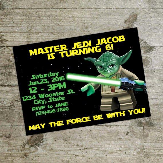 Lego Star Wars Party Invites Unique Lego Invitation Lego Star Wars Invitation Birthday by Dipics